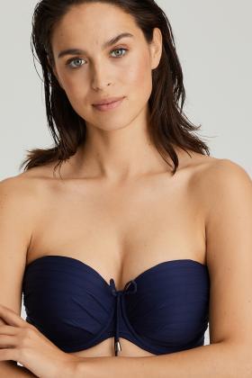 PrimaDonna Swim - Sherry Bikini Bandeau BH mit abnembaren Trägern E-G Cup