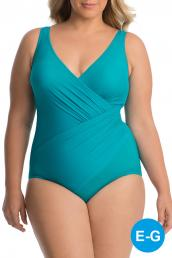 Miraclesuit - Must Have Oceanus Badeanzug (DD Cup) - Amalfi-Green