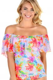 Cyell - Fiji Floral Tankini  off-shoulder