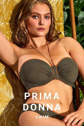 PrimaDonna Swim - Marquesas Bikini Bandeau BH mit abnembaren Trägern E-G Cup